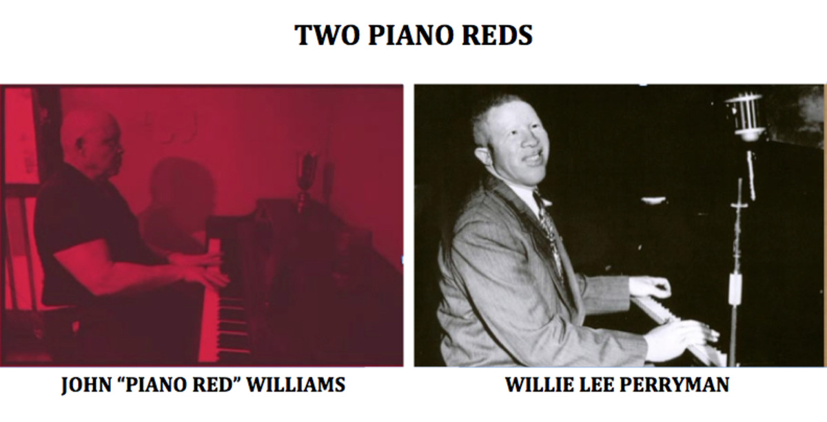 "John ""Piano Red"" Williams of Beale Street; who performed in Memphis, is sometimes confused with Willie Lee Perryman, also an albino African American."