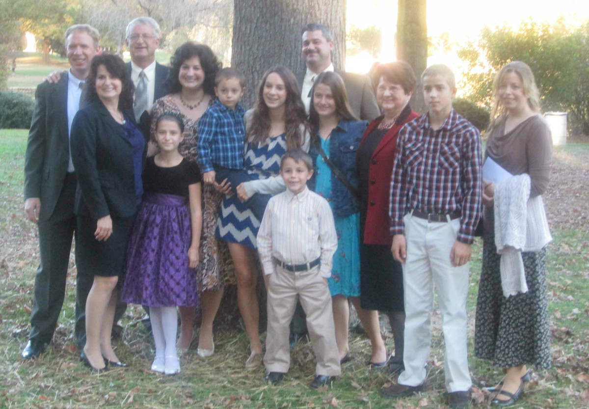 A small part of my family.  Are there any black sheep here, or did they stay home?
