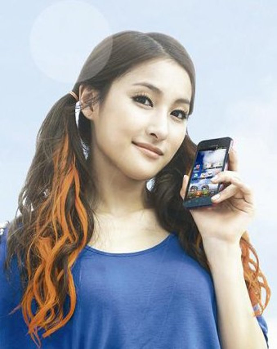 Kara in LG Optimus Bright advertisement.