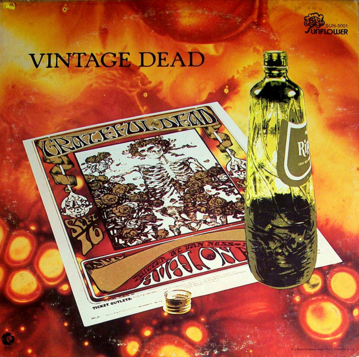 "Grateful Dead ""Vintage Dead"" Sunflower Records SUN-5001 12"" LP Vinyl Record US Pressing (1970)"
