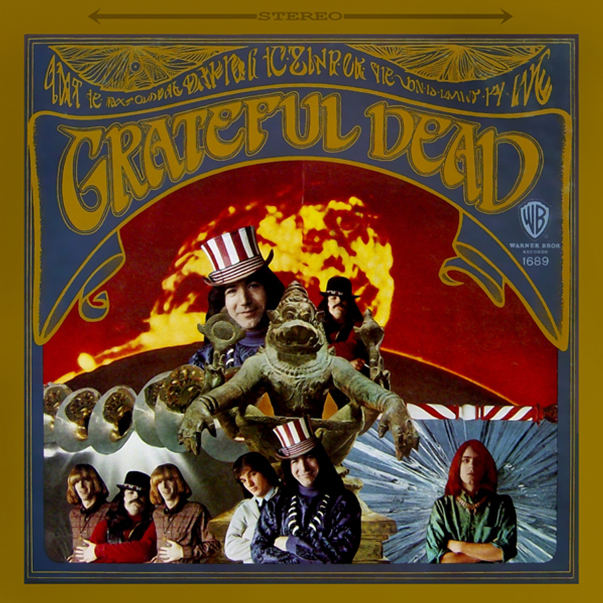"The Grateful Dead ""Grateful Dead"" Warner Brothers Records WS 1689 12"" LP Vinyl Record (1967) Album Cover Art by Alton Kelley & Stanley Mouse"