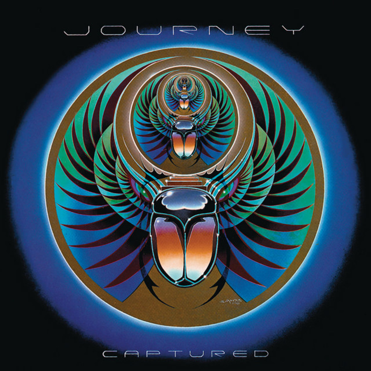 "Journey ""Captured"" Columbia Records KC2 37016 2 12"" LP Vinyl Record Set US Pressing (1981)  Album Cover Art by Stanley Mouse"