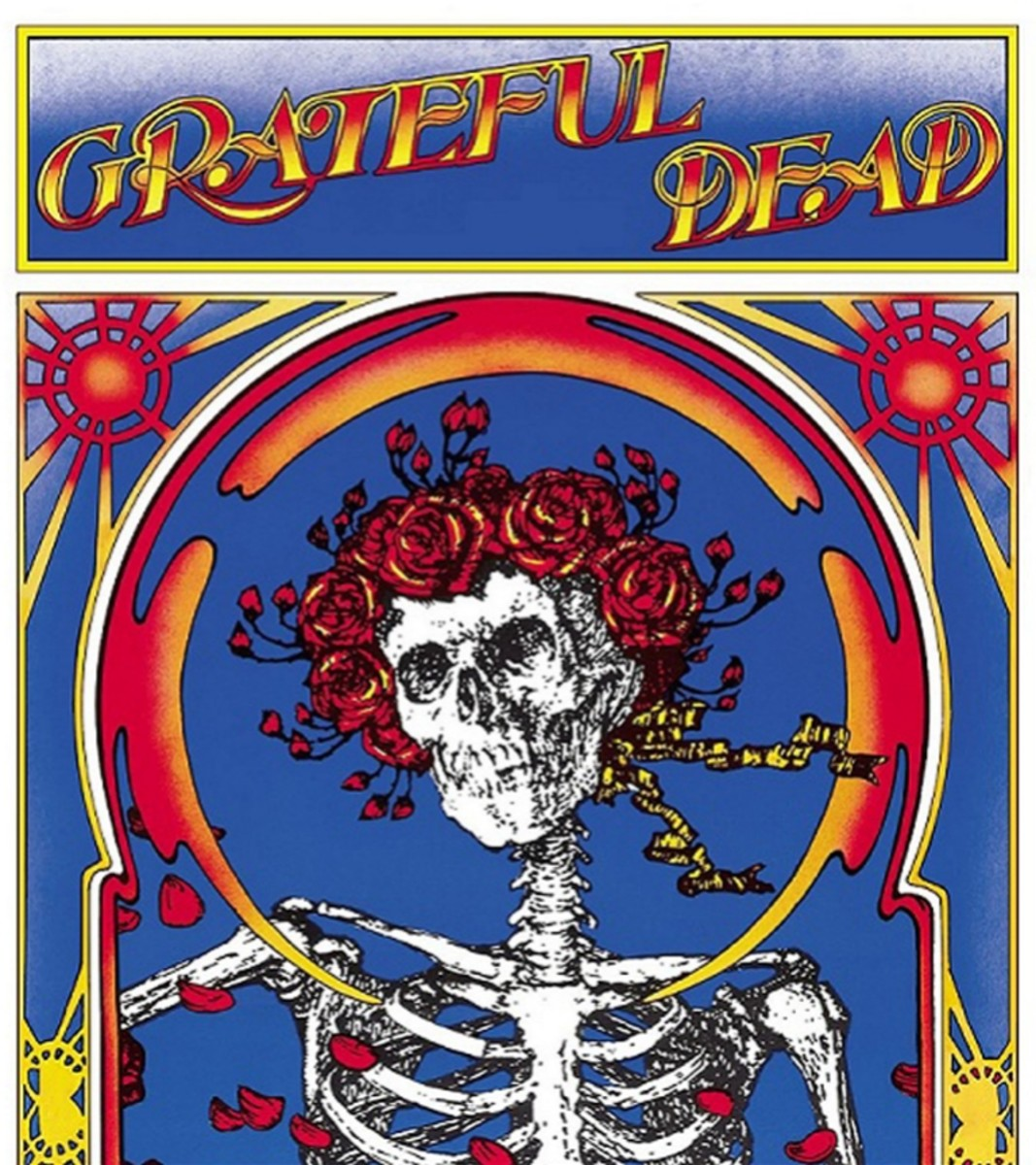 "Grateful Dead ""Skull & Roses"" Warner Brothers 2WS1935  2 12"" LP Vinyl Record Set US Pressing (1971) Album Cover Art by Alton Kelley & Stanley Mouse"