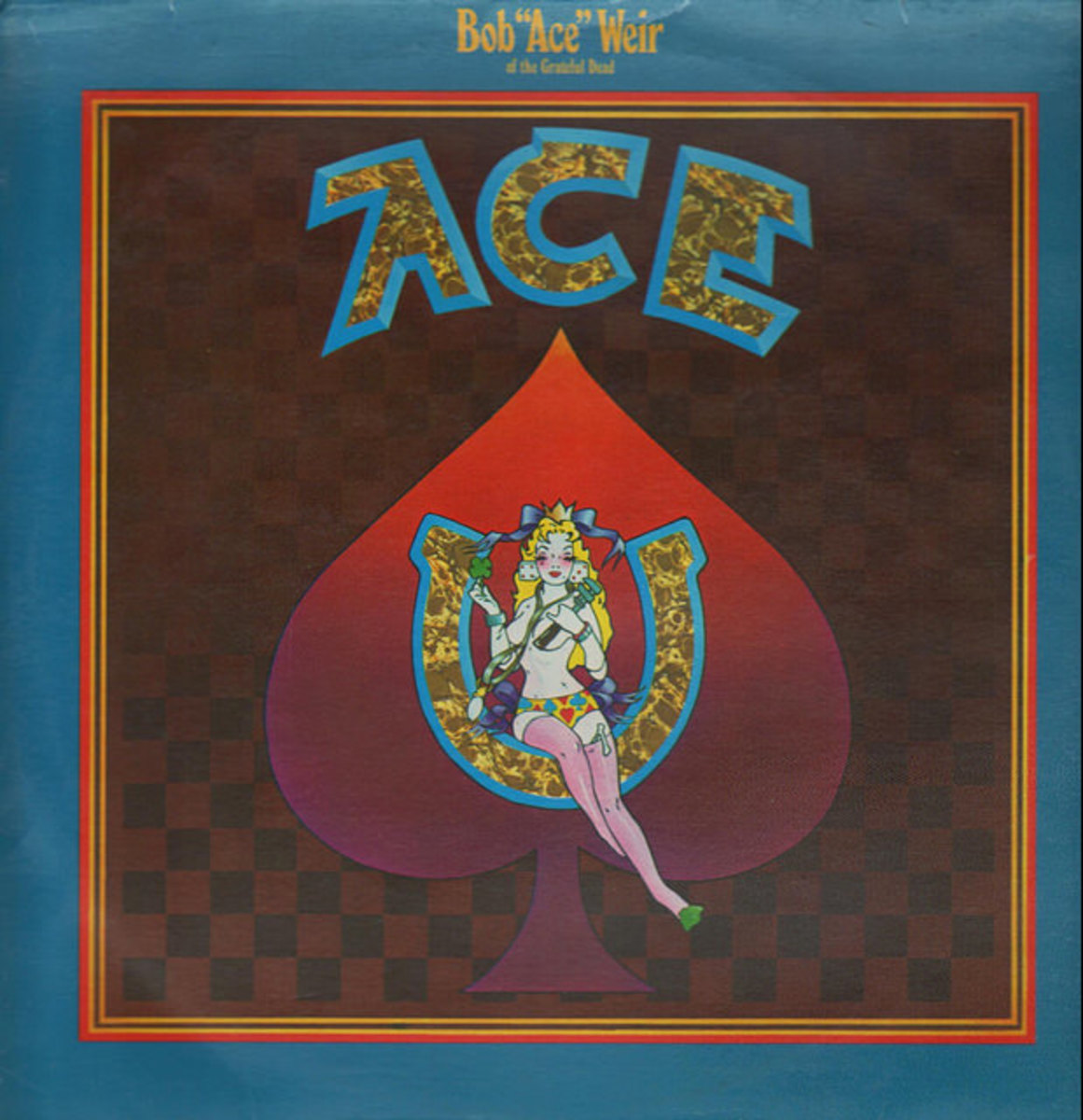 "Bob Weir ""Ace"" Warner Brothers Records BS 2627 12"" LP Vinyl Record US Pressing (1972) Album Cover Art by Alton Kelley & Stanley Mouse"