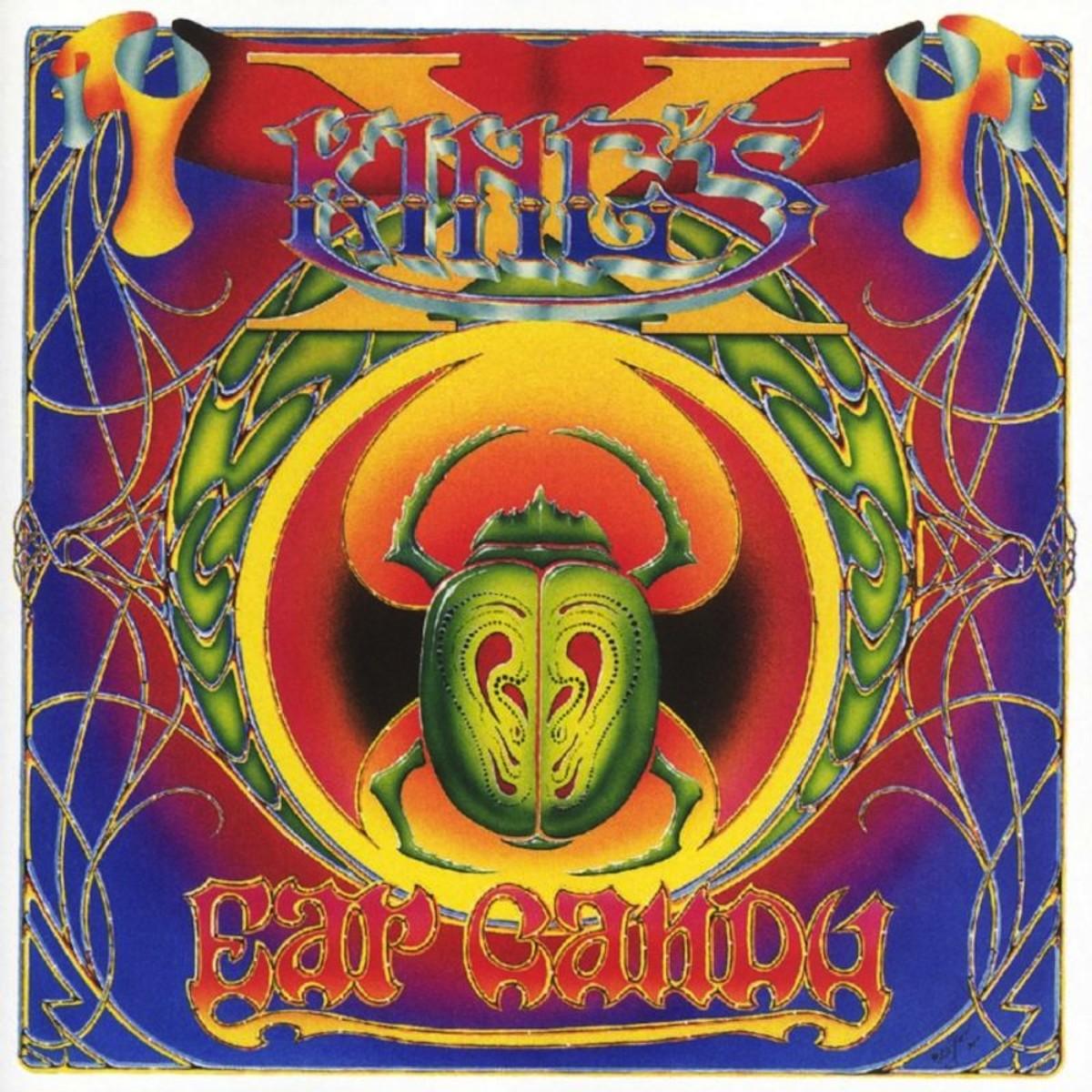 "King's X ""Ear Candy"" Atlantic Records 82880-2 CD Album US Pressing (1996) CD Album Cover Art by Alton Kelley"