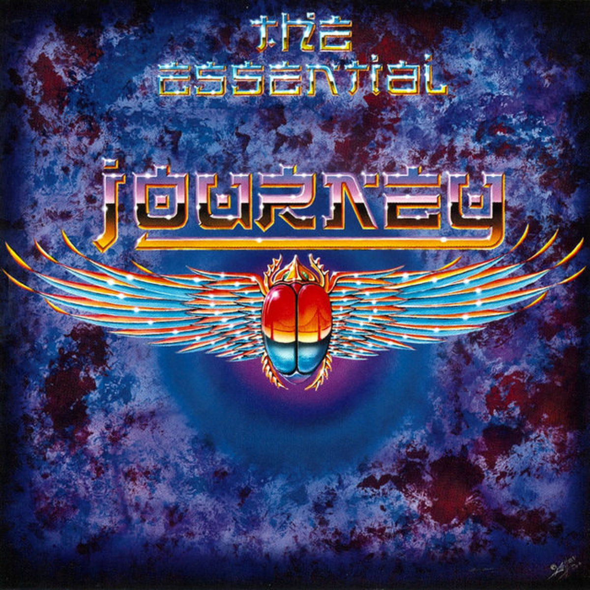 "Journey ""The Essentials"" Columbia, Legacy	Columbia, C2K 86080 2 CD Set US Pressing (2001) Album Cover Art by Alton Kelley"