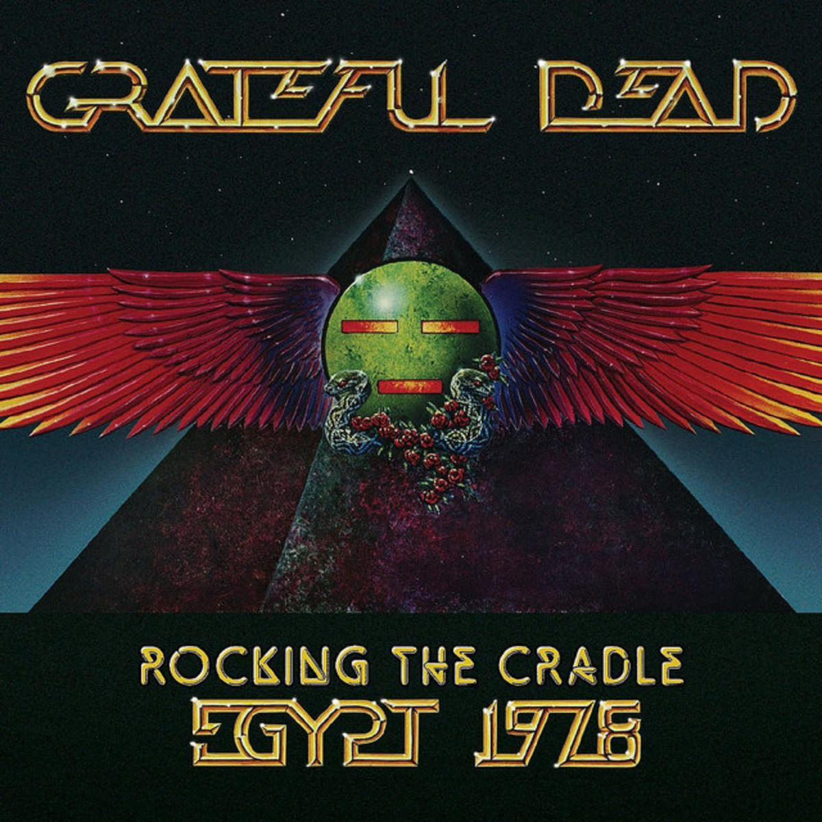 "Grateful Dead ""Rocking the Cradle Egypt 1978"" Rhino Records R2 512959 3 HDCDs 1 DVD US Pressing (2008) Album Cover Art by Alton Kelley"