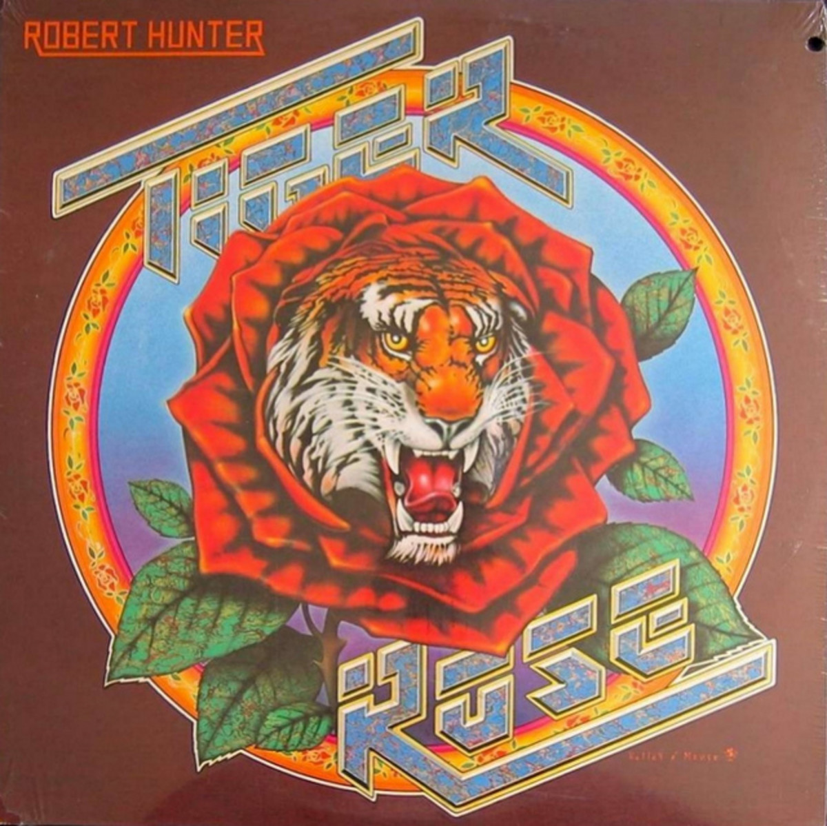 "Robert Hunter ""Tiger Rose"" Round Records RX 105 12"" LP Vinyl Record US Pressing (1975) Album Cover Art by Alton Kelley & Stanley Mouse"