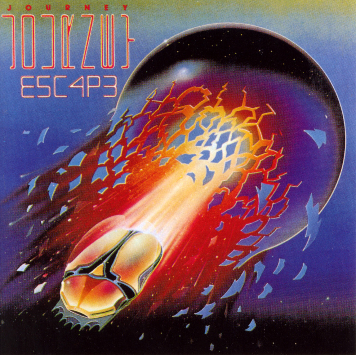 "Journey ""Escape"" 1981 Columbia TC 37408 12"" LP Vinyl Record US Pressing (1981) Album Cover Art by Stanley Mouse"