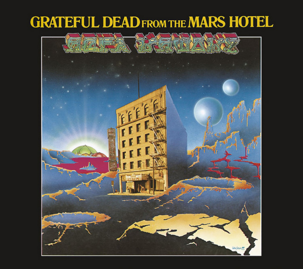 "Grateful Dead ""From the Mars Hotel"" Grateful Dead Records GD 102 12"" LP Vinyl Record (1974) Album Cover Art by Alton Kelley & Stanley Mouse"
