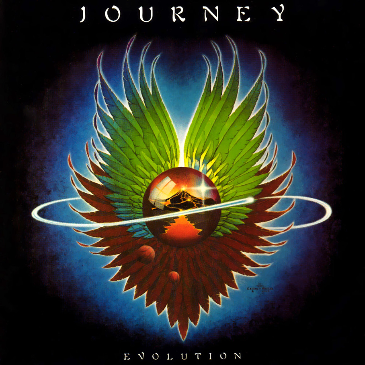 "Journey ""Evolution"" Columbia Records FC 35797 12"" LP Vinyl Record US Pressing (1979)  Album Cover Art by Alton Kelley & Stanley Mouse"