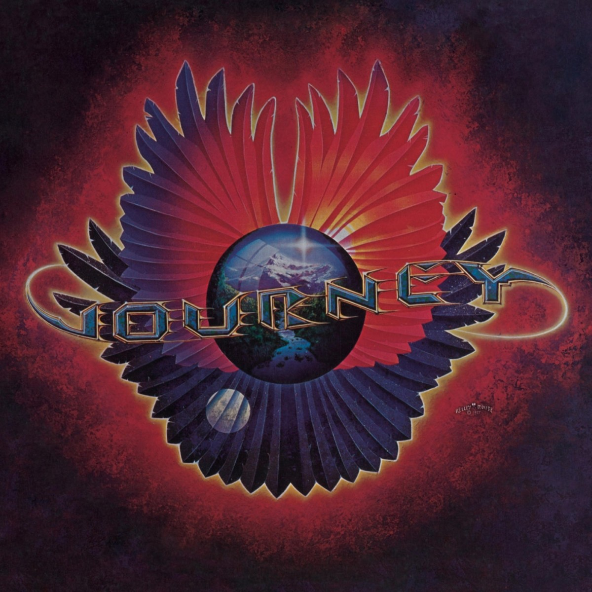 """Journey """"Infinity"""" Columbia Records 12"""" LP Vinyl Record US Pressing (1978) Album Cover Art by Alton Kelley & Stanley Mouse"""