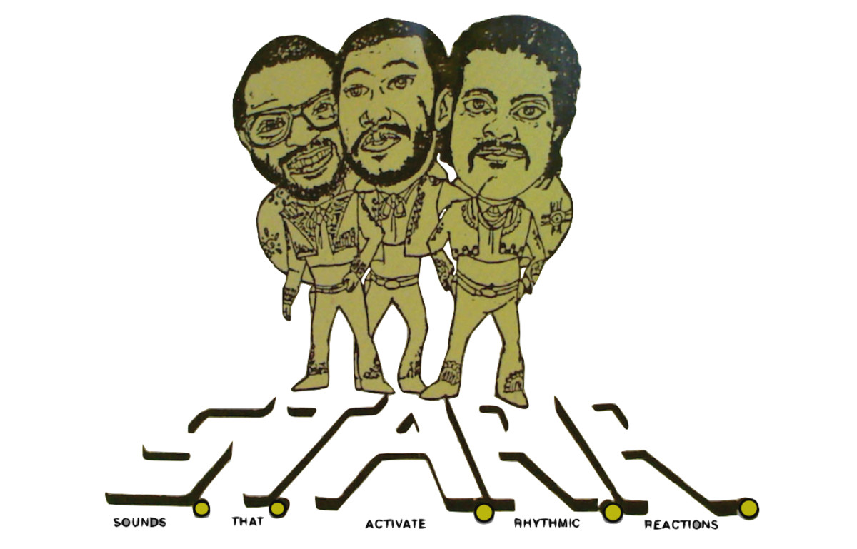 The collectors of the 45 rpm resurrection eventually unveiled a group of artists that called themselves S.T.A.R.R.  Shown left to right (in caricature) are members: Rob, James Huffman, and Napoleon Briggs