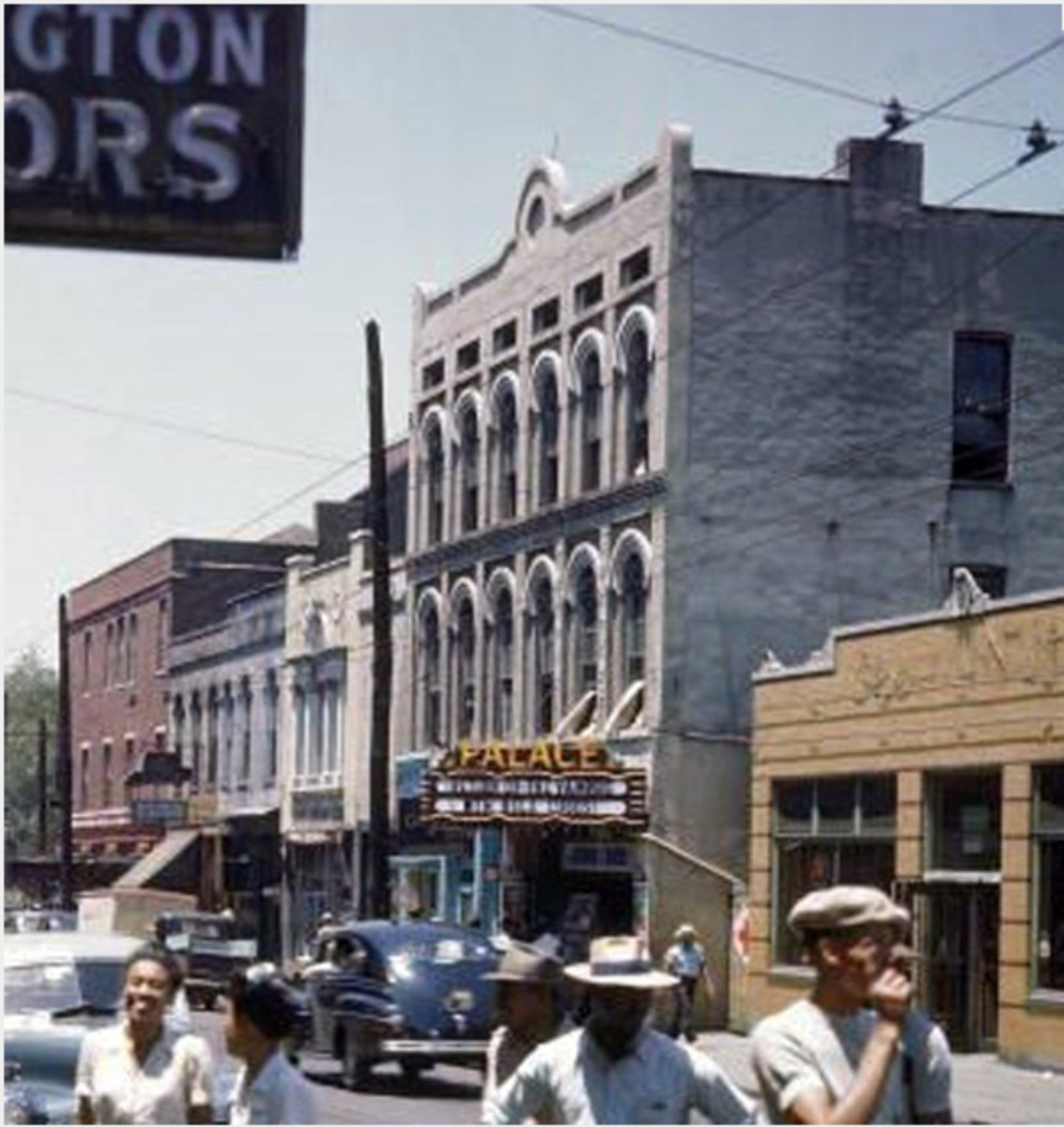Amateur Night at the Palace Theater and Beale Street had constant patrons; mostly black.