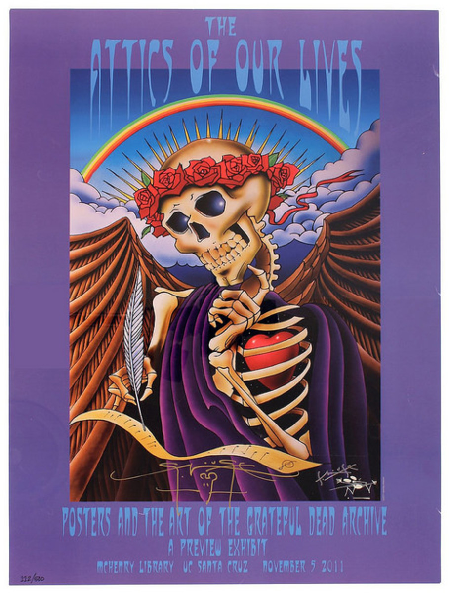 The Attics Of Our Lives Posters and Art of the Grateful Dead Archive Mchenry Library (2011) Poster Graphics by Stanley Mouse, Hand Signed by Stanley Mouse