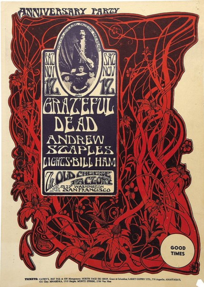 The Grateful Dead the Cheese Factory (1966) Poster Graphic by Stanley Mouse