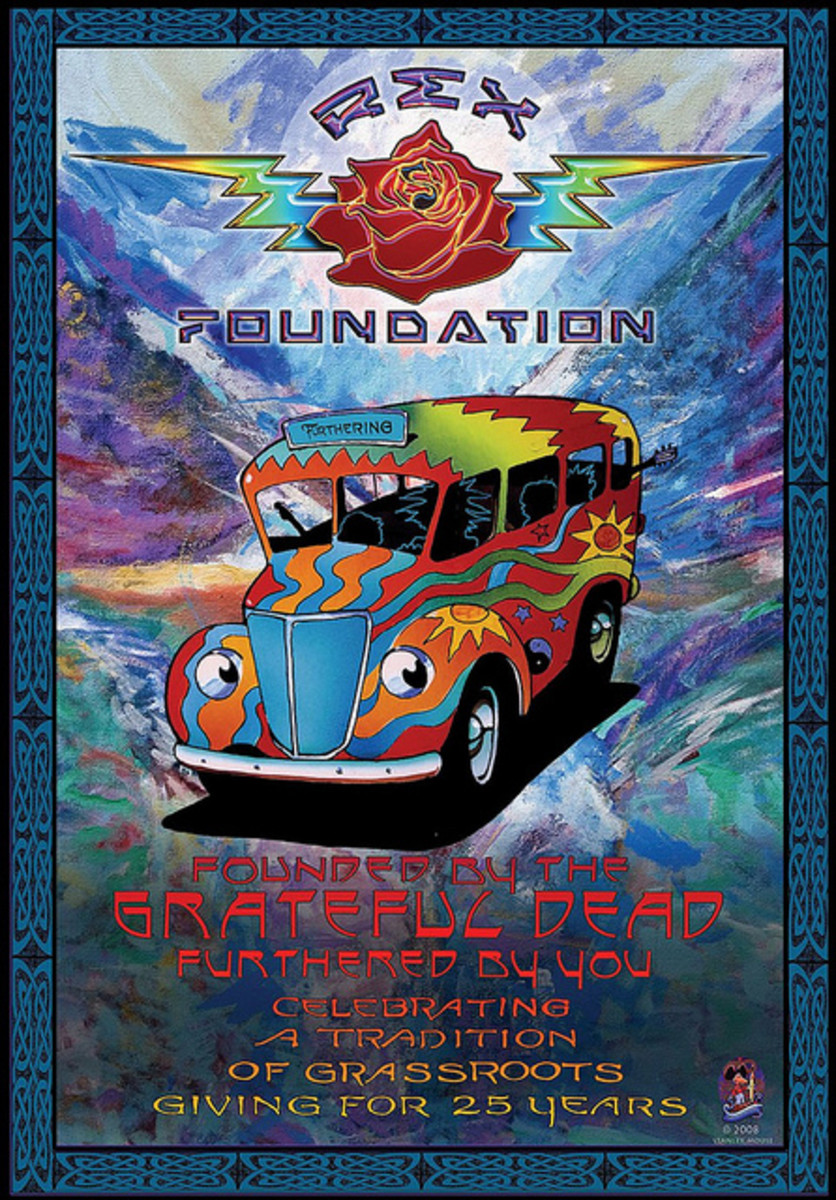 The Rex Foundation 25 Year Anniversary (2008) Poster Graphics by Stanley Mouse