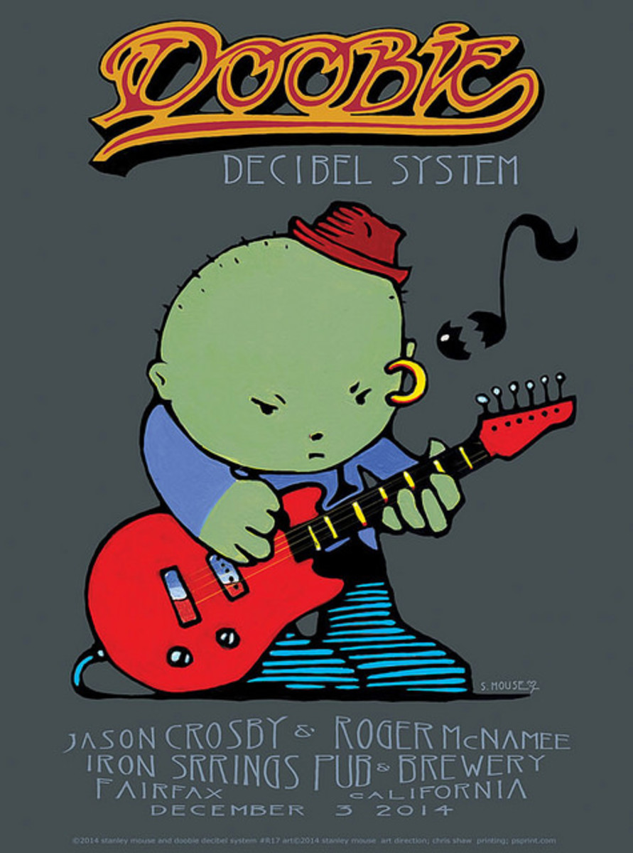 Doobie Decibel System Iron Springs Pub & Brewery, Fairfax, CA  December 3, 2014 Poster Graphics by Stanley Mouse