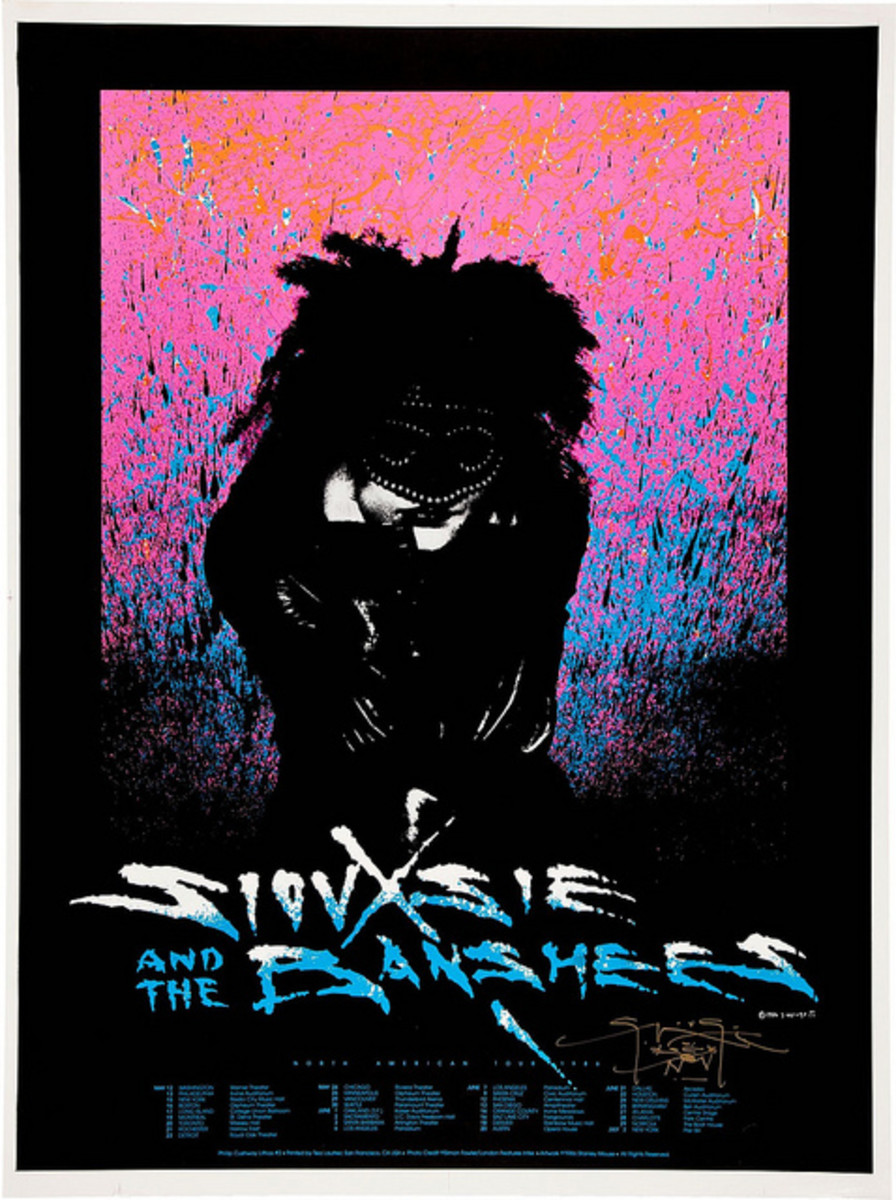 Siouxsie and the Banshees (1986)  Poster Graphics by Stanley Mouse