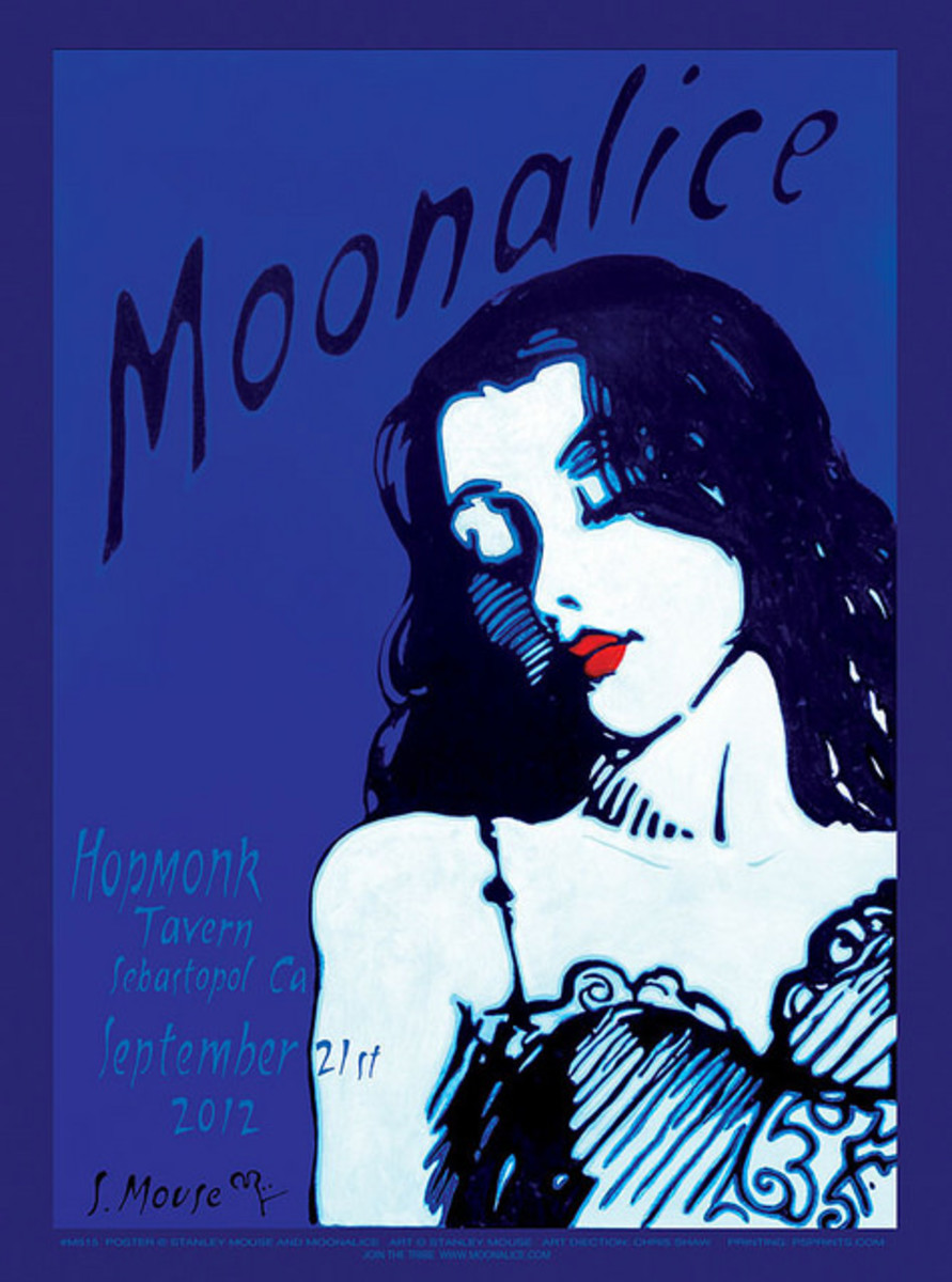 Moonalice Hopmonk Tavern, Sebastopol, California September 21, 2012 Poster Graphics by Stanley Mouse