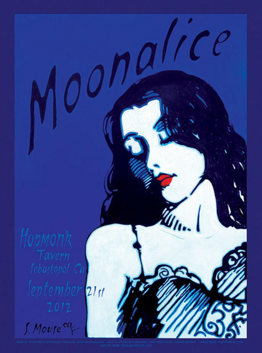 Moonalice Hopmonk Tavern, Sebastopol, California September 21, 2012 Poster Graphics by Stanley Mouse