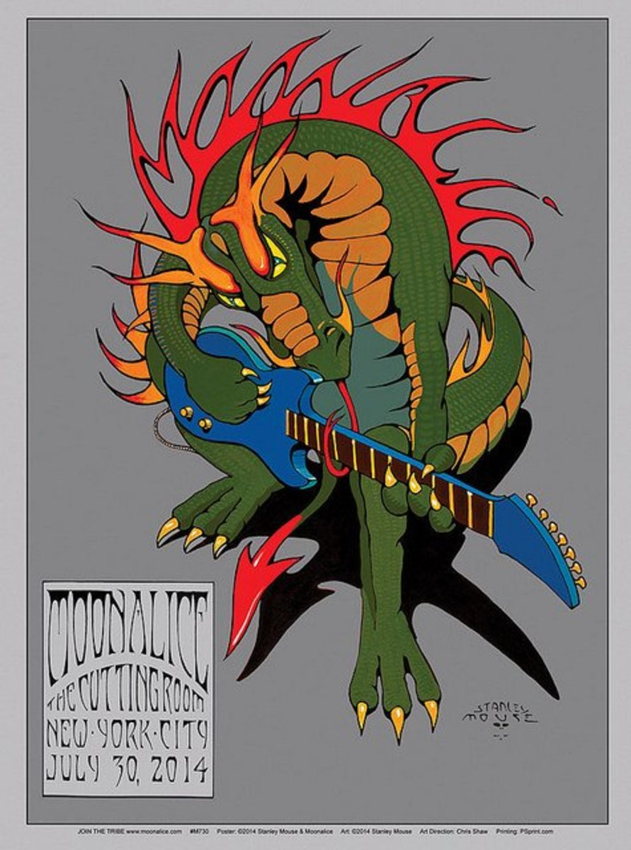 Moonalice The Cutting Room, New York, NY (2014) Poster Graphics by Stanley Mouse