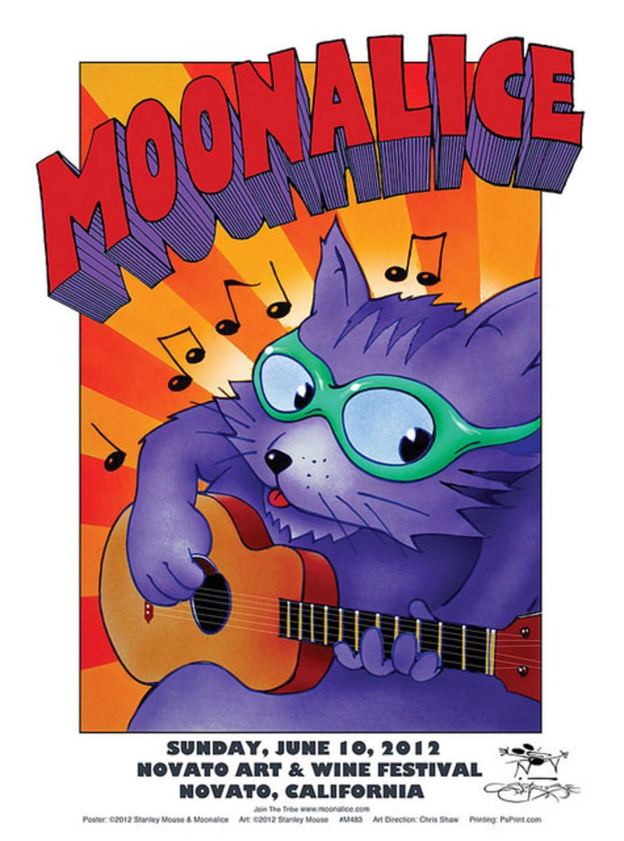 Moonalice Novato Art & Wine Festival Novato California June 10, 2012 with Poster Graphics by Stanley Mouse