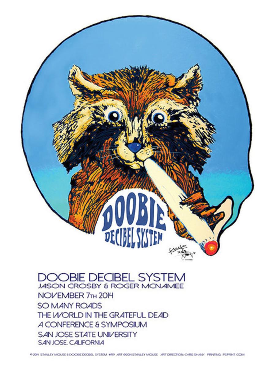 Doobie Decibel System 11-07-14 San Jose State University, San Jose, CA Poster Graphics by Stanley Mouse