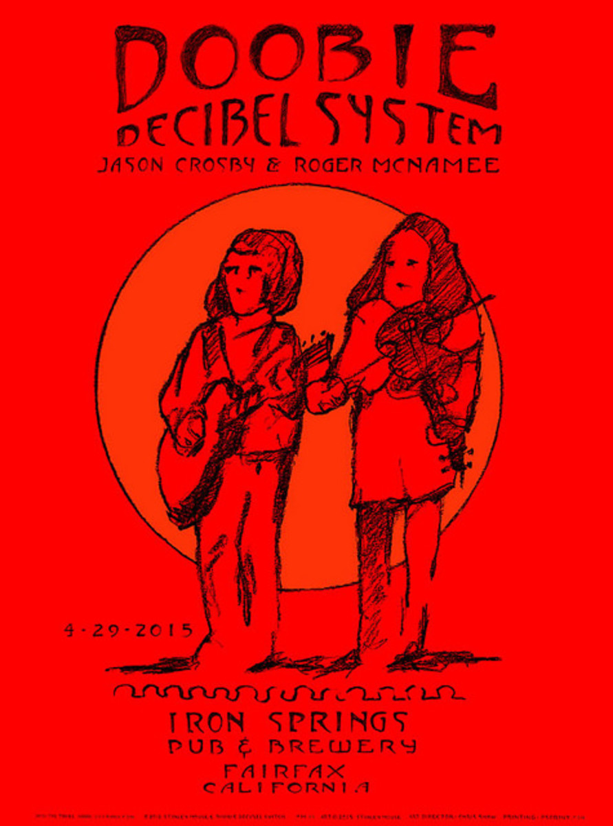 Doobie Decibel System Iron Springs Pub & Brewery, April 29, 2015  Fairfax, CA Poster Art by Stanley Mouse
