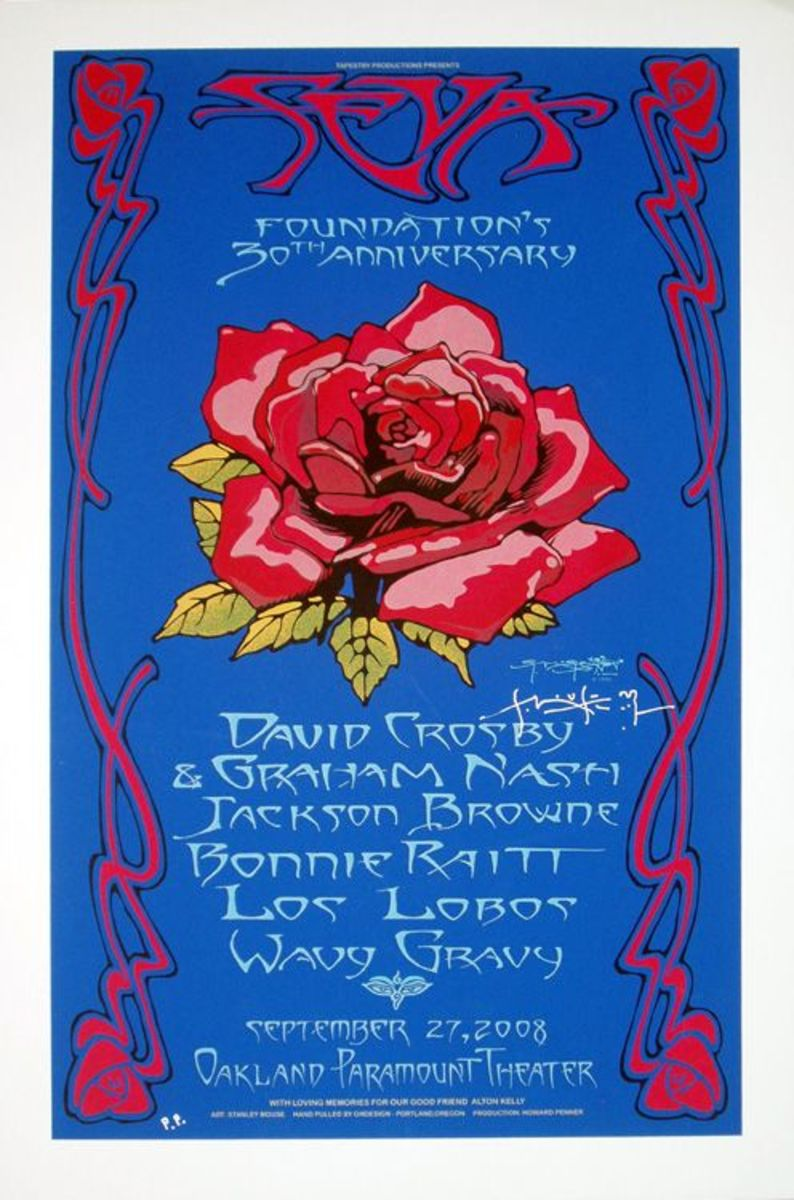 Seva Foundation 30th Anniversary Paramount Theater, Oakland California (2008) Poster Art by Stanley Mouse