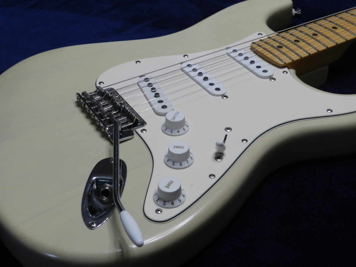 Fender Stratocaster solid-body electric guitar.