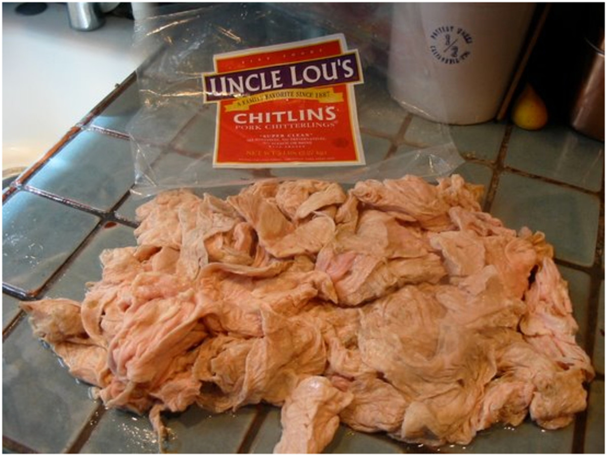 Chitlins are pork intestines.