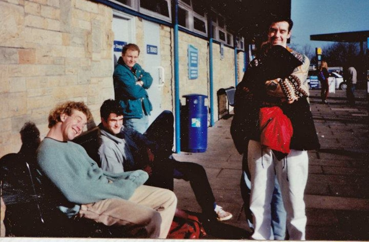 Charnock Richard services - 1991 - my friend Ian on the right.