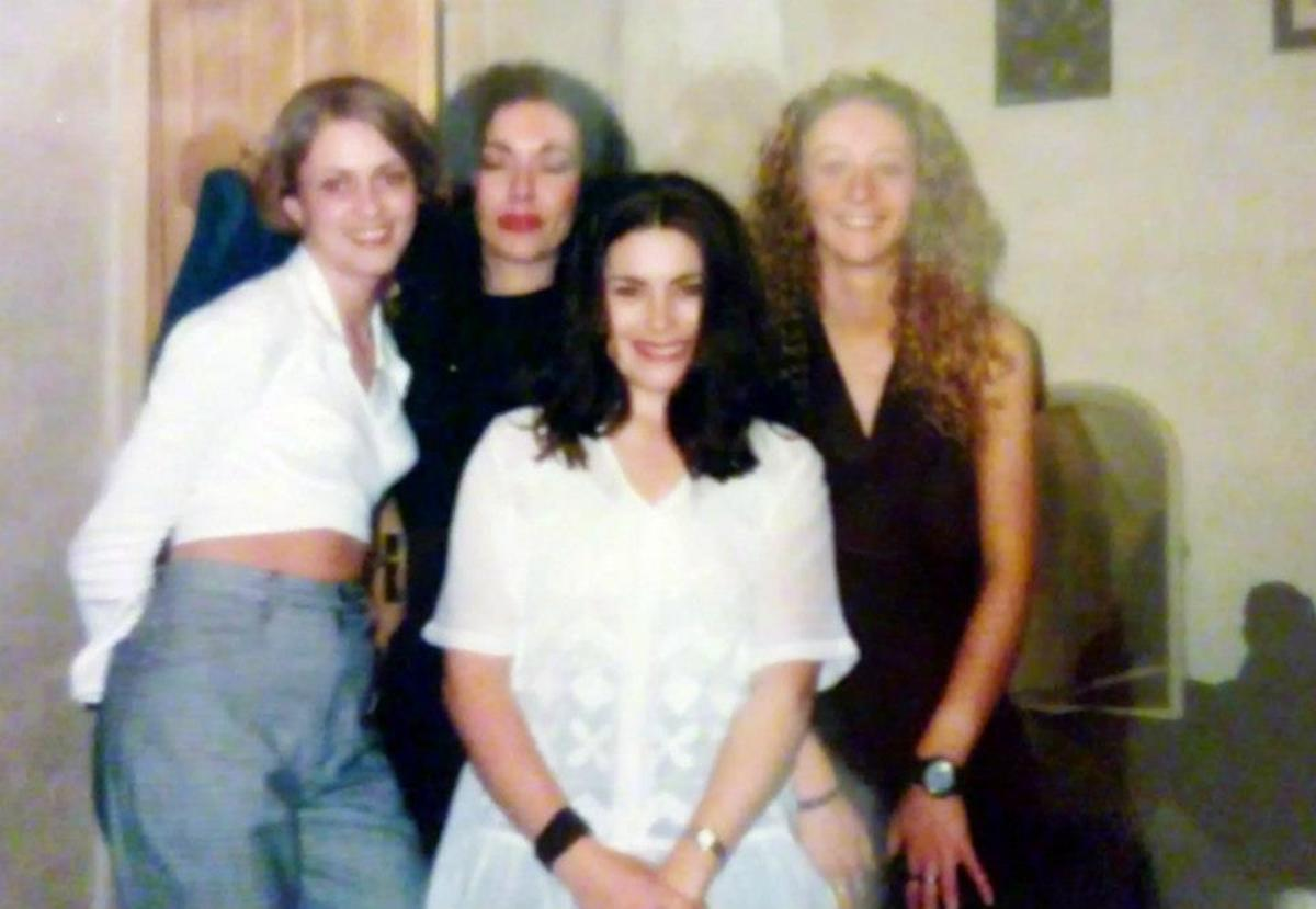 February 1993 (from left): Mandie, me, Carol and Julia ready for a night at the Manchester Hacienda.