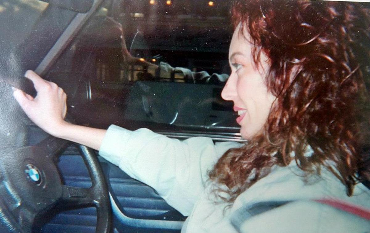 Me driving my car on the way back to Blackpool after a weekend's clubbing (October 1992).
