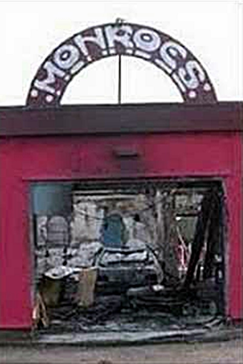 A burned out shell was all that was left of Monroes following an arson attack in 2005.