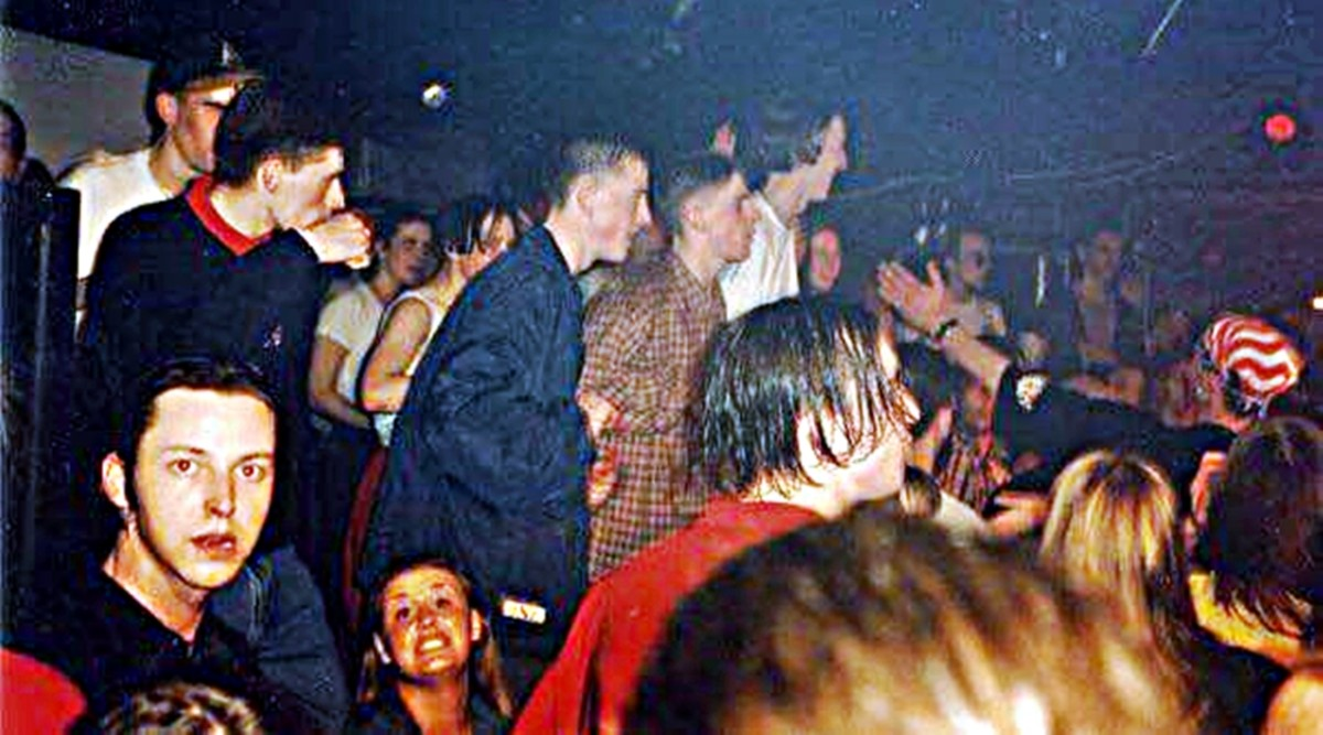 On the dance floor at Angels, early '90s