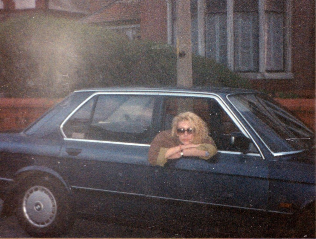 Me in my BMW when I had just bought it, outside Julia's house in Bispham, Blackpool.