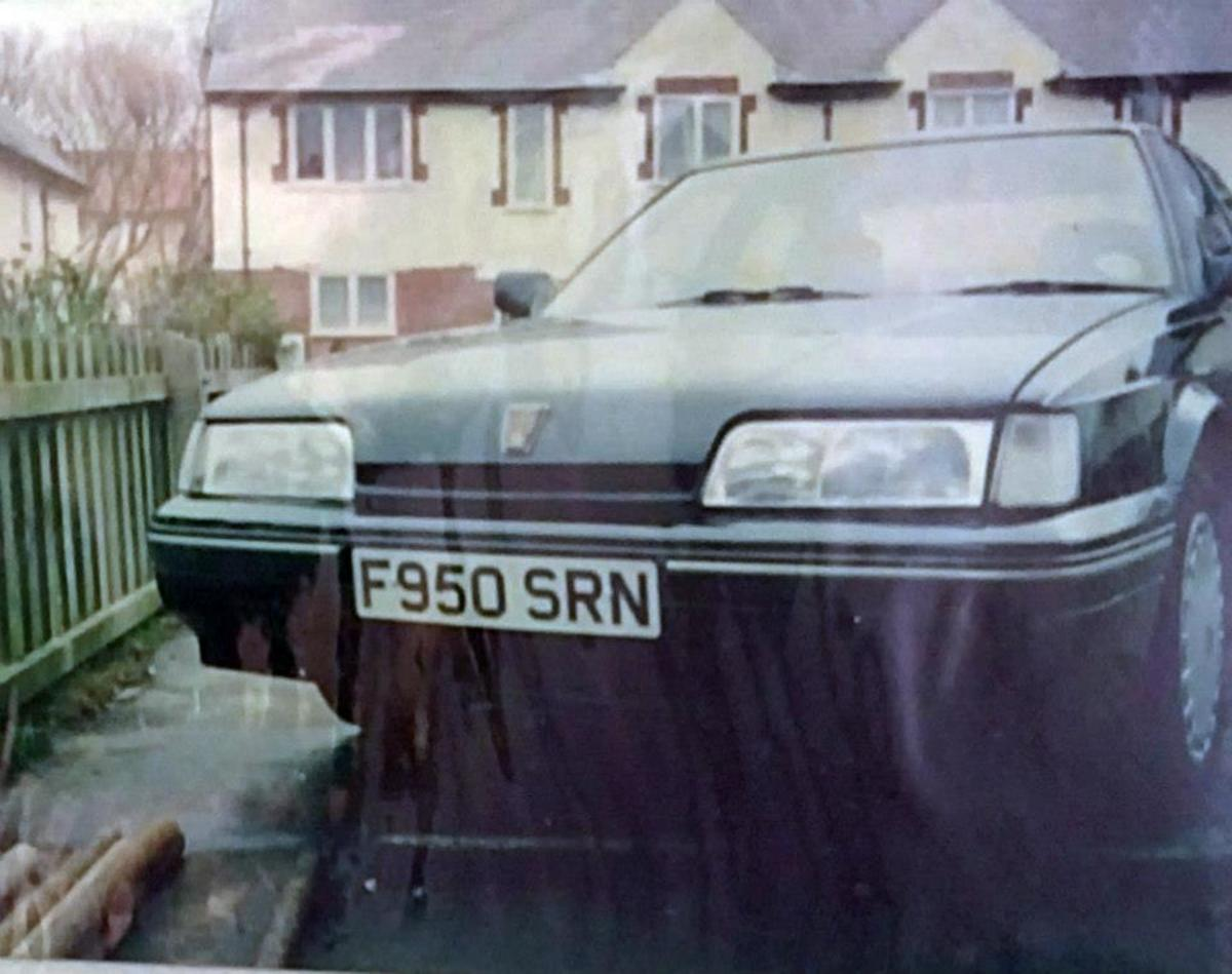 My car after it had been repaired, outside my dad's friend Malcolm's house in Blackpool. You would never have known it'd been in a bad accident.