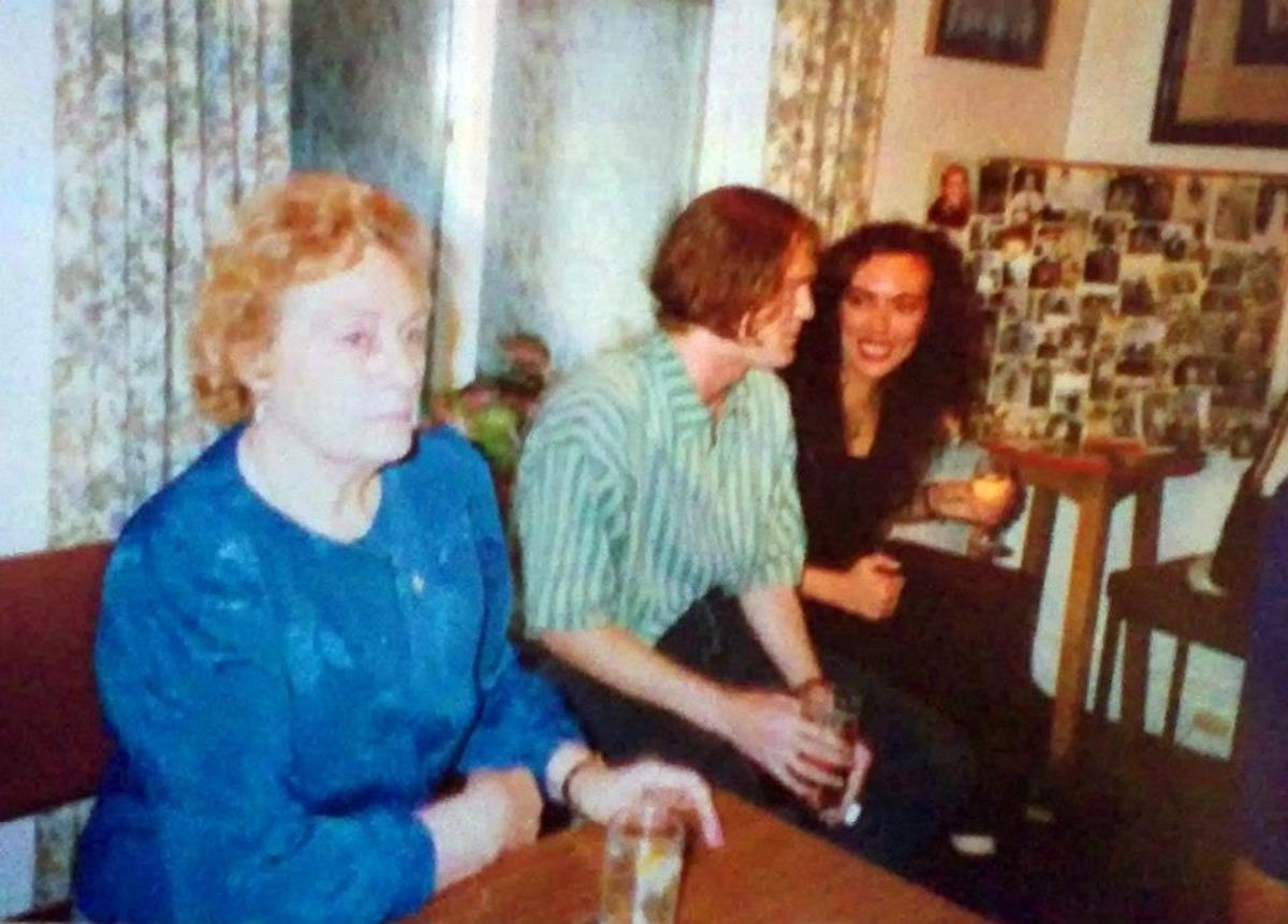 Me with my cousin Jon at my dad's birthday party, at Blackpool Cricket Club. (Dad's sister, my Auntie Eileen, on the left).