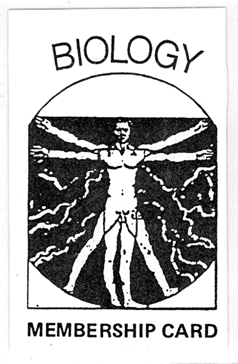 Biology membership card (1989)