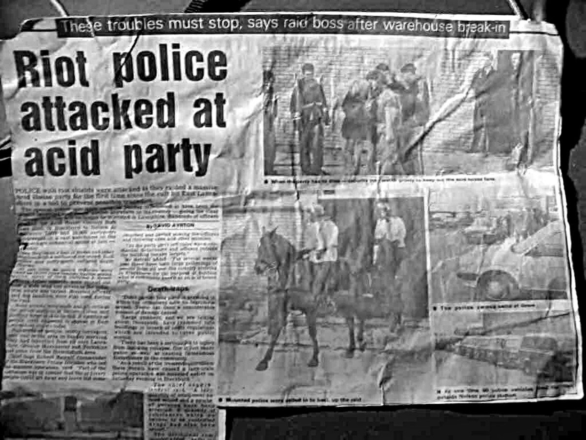 Newspaper reports of the day always claimed ravers attacked the police, but on the contrary, I saw young party-goers, male and female, hit by police batons for no reason other than they were trying to leave in a non-confrontational manner.