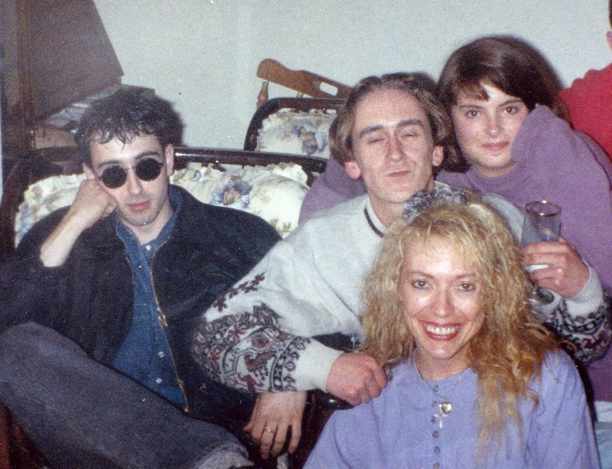 A party at Abbey Village, May 1991, with me at the front, Carol behind me and our friend Lee in the cream jumper.