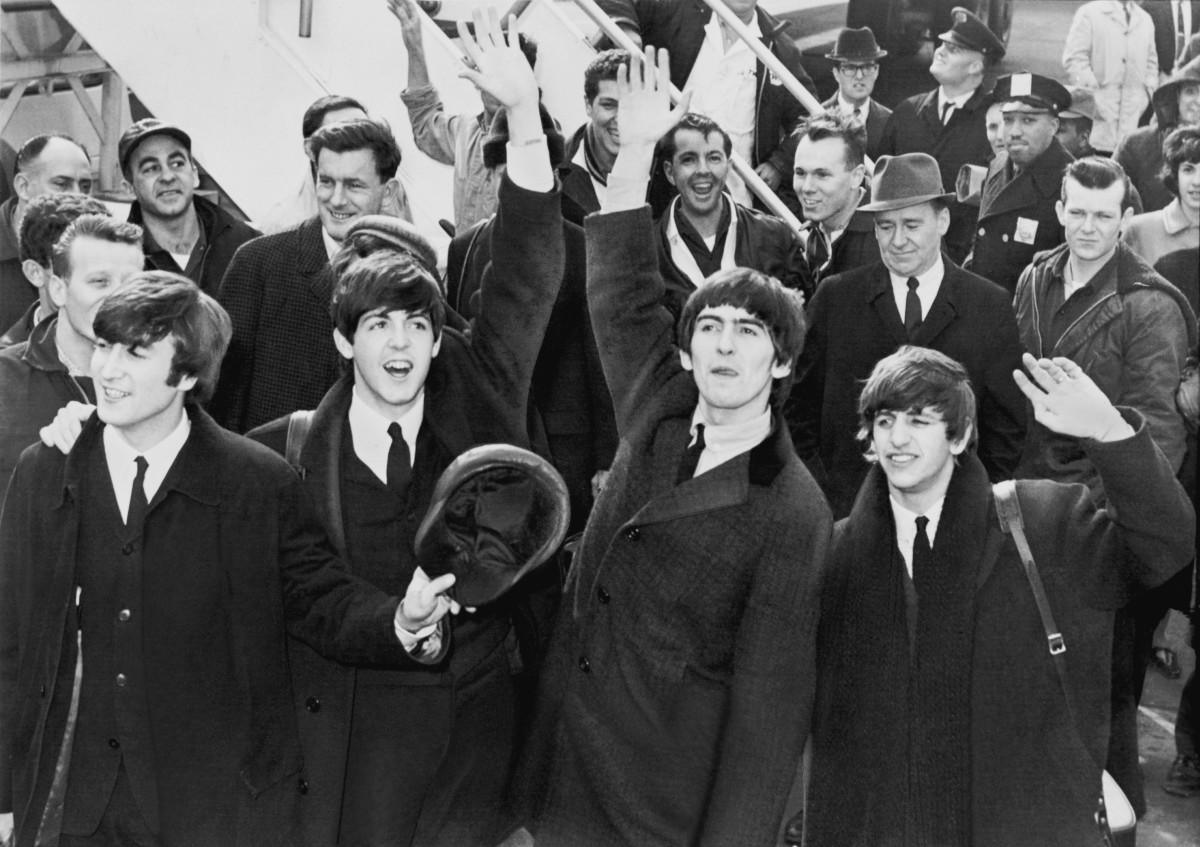 The Beatles arrive at John F. Kennedy airport 1964