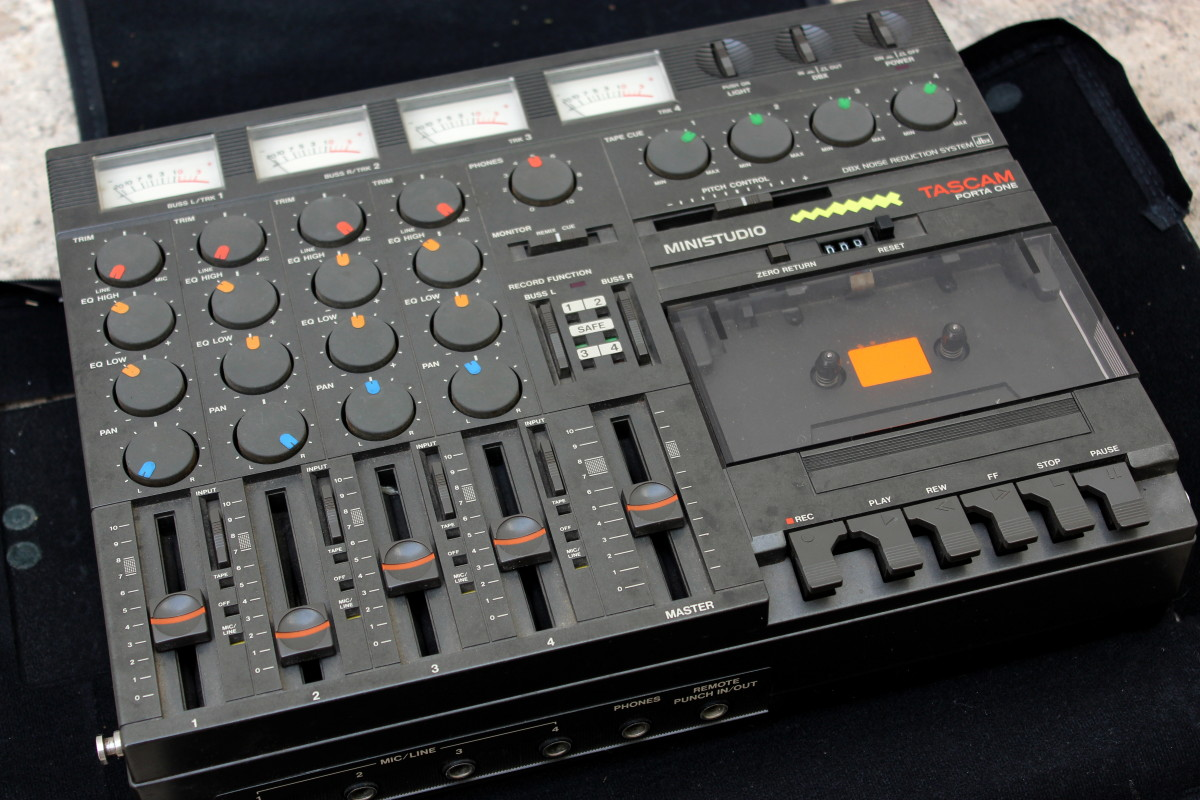 Tascam four track recording machine