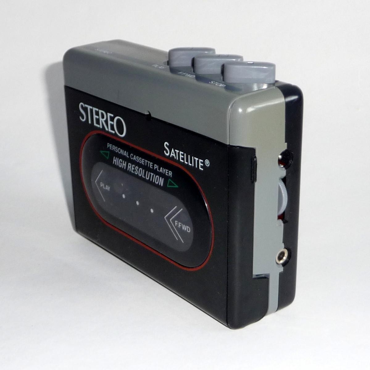 Vintage portable cassette player