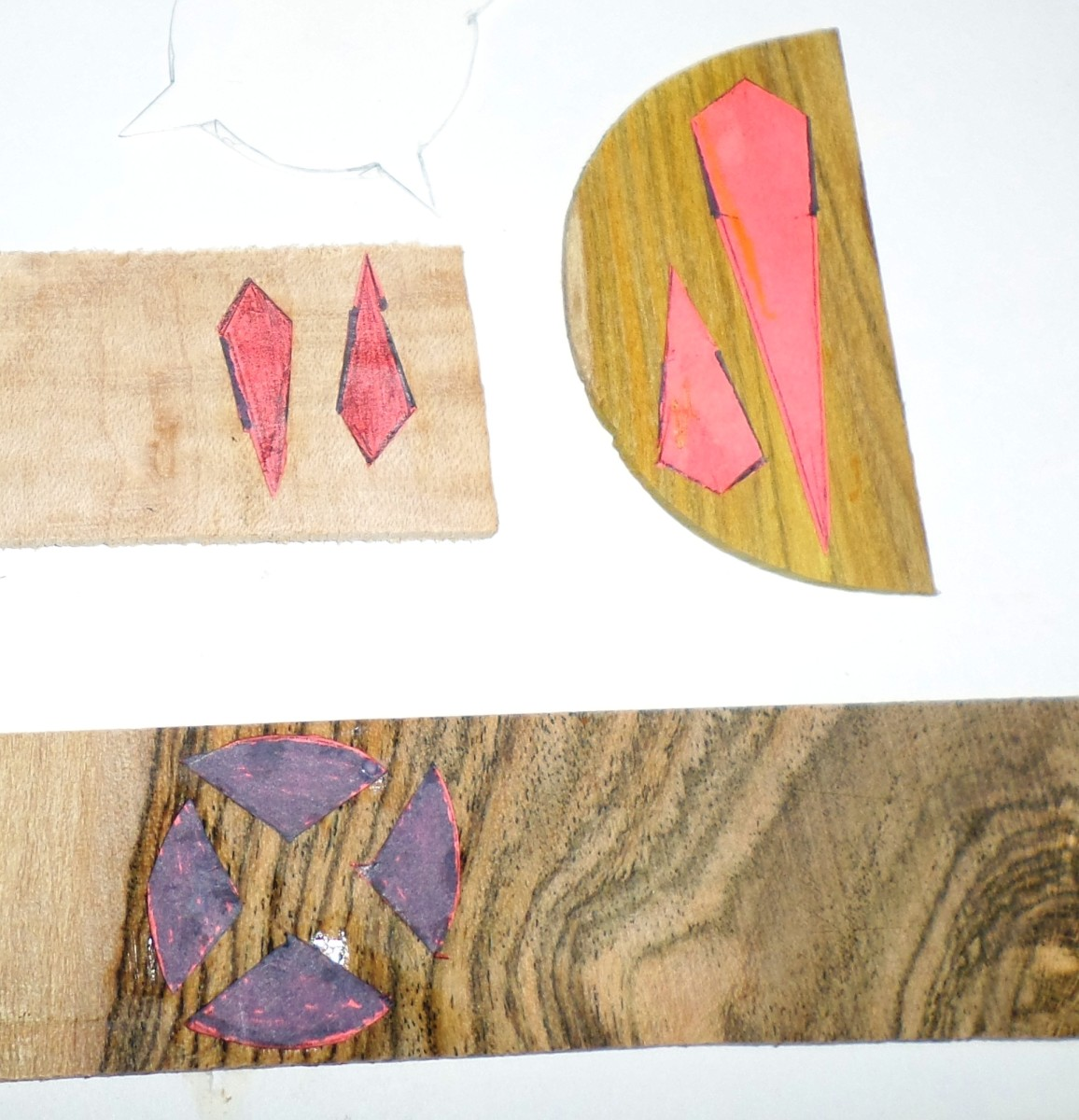 Making the peg head inlay.
