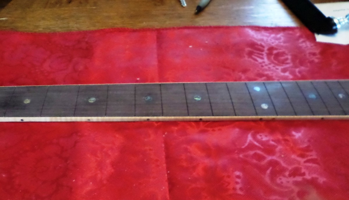 Fret dots and side dots.