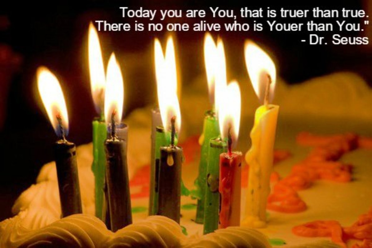 """Today you are You, that is truer than true. There is no one alive who is Youer than You."" -Dr. Seuss, American children's author"