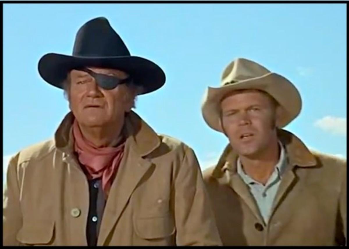 Glen Campbell and John Wayne in Wayne's Oscar-winning movie, True Grit.